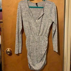 WINDSOR gray ruching shirt
